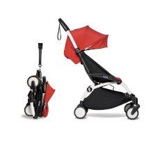 Carucior pentru copii BABYZEN YOYO² sport ultracompact cadru alb si pachet de culoare 6+ Red