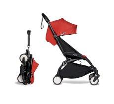 Carucior pentru copii BABYZEN YOYO² sport ultracompact cadru negru si pachet de culoare 6+ Red