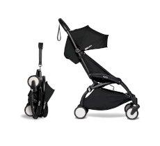 Carucior pentru copii BABYZEN YOYO² sport ultracompact cadru negru si pachet de culoare 6+ Black