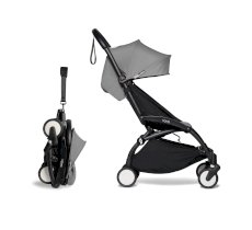 Carucior pentru copii BABYZEN YOYO² sport ultracompact cadru negru si pachet de culoare 6+ Grey