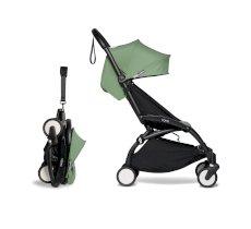 Carucior pentru copii BABYZEN YOYO² sport ultracompact cadru negru si pachet de culoare 6+ Peppermint