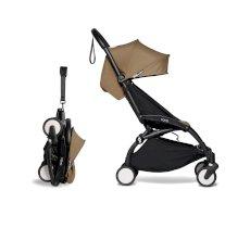 Carucior pentru copii BABYZEN YOYO² sport ultracompact cadru negru si pachet de culoare 6+ Toffee