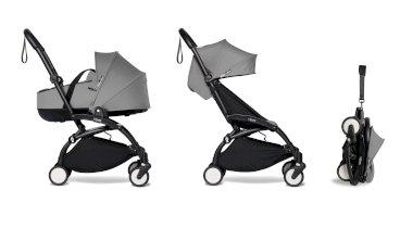Carucior pentru copii BABYZEN YOYO² 2 in 1 compact cadru negru landou si pachet culoare 6+ Grey