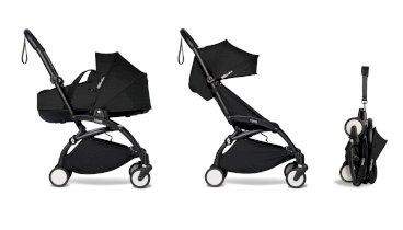 Carucior pentru copii BABYZEN YOYO² 2 in 1 compact cadru negru landou si pachet culoare 6+ Black