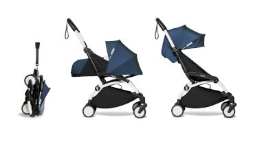 Carucior pentru copii BABYZEN YOYO² 2 in 1 compact cadru alb pachet nou nascut 0+ si pachet culoare 6+ Air France Blue