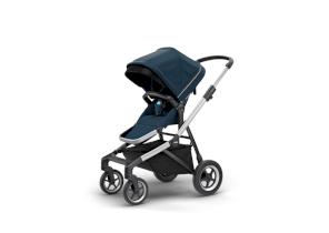 Carucior pentru copii Thule Sleek sport flexibil Aluminum/Navy Blue
